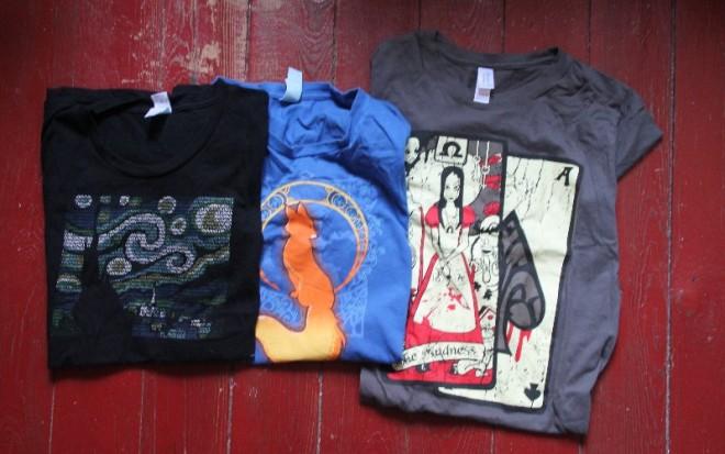 Trois t-shirts que j'affectionnais beaucoup et que je remets en question