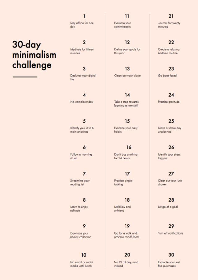 Le challenge minimaliste crée par Into mind